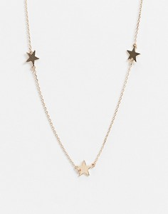 Золотистое ожерелье со звездами Aldo-Золотой