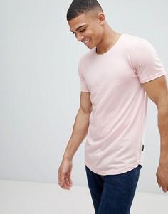 Длинная футболка D-Struct-Розовый