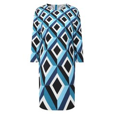Платье из хлопка и вискозы Escada