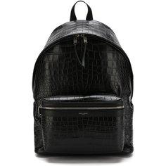 Кожаный рюкзак City с тиснением Saint Laurent