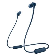Гарнитура SONY WI-XB400, Bluetooth, вкладыши, синий [wixb400l.e]