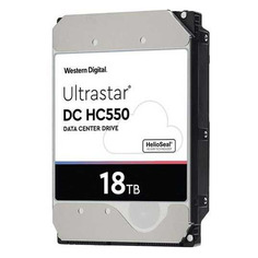 "Жесткий диск WD Ultrastar DC HC550 WUH721818ALE6L4, 18ТБ, HDD, SATA III, 3.5"" [0f38459]"