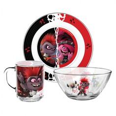 Набор посуды ND Play из 3 предметов Тролли 2