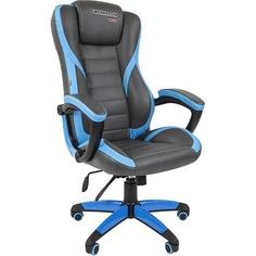 Компьютерное кресло Chairman game 22 серый/синий
