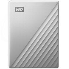"Внешний жесткий диск 2.5"" WD 4TB My Passport Ultra Silver (WDBFTM0040BSL-WESN)"