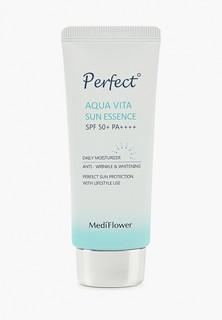 Крем солнцезащитный Medi Flower eвлажняющая эссенция, Medi Flower Perfect Aqua Vita Sun Essence, SPF50+ PA++++, 50 мл