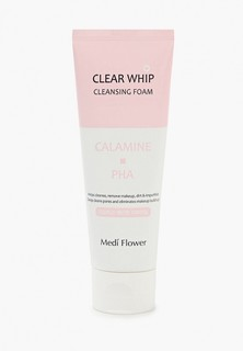 Пенка для умывания Medi Flower MEDIFLOWER, минеральная с каламином и PHA кислотами, 120 мл