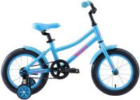 Велосипед детский Stark Foxy 14 Boy 2020, голубой/белый (H000016494)
