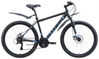 """Горный велосипед Stark Indy 26.1 D Microshift 18""""/2020, черный/голубой/белый (H000015952)"""