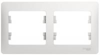 Рамка двойная Schneider Electric GSL000102 Glossa, белая (275128)