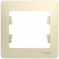 Рамка одинарная Schneider Electric GSL000201 Glossa, бежевая (275175)