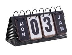 Декор настольный календарь osd (to4rooms) черный 27x14x10 см.