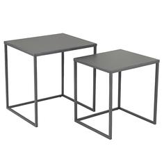 Набор кофейных столиков velluto 2 шт. (berg) серый