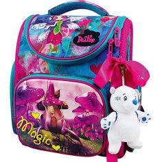 Ранец DeLune, мешок, мишка, ленточка