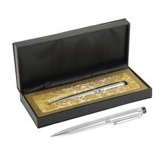 Ручка шариковая, подарочная, в кожзам футляре, поворотная, Calligrata