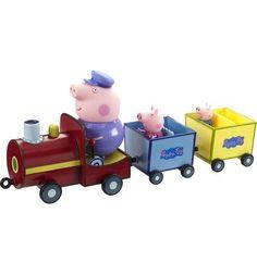 Игровой набор Peppa Pig Паровозик. Дед Пеппы 30 см