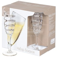 Бокал для шампанского Серпантин N1687/06сс, 6 шт, 170 мл