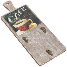 Панно декоративное Кофе с крючками Y6-2145 I.K, 13х34 см