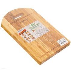 Доска разделочная деревянная прямоугольная большая, 39х24 см