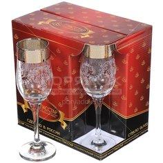 Бокал для шампанского Гусь-Хрустальный Стекольный завод Барокко GN1_160_3, 6 шт, 200 мл