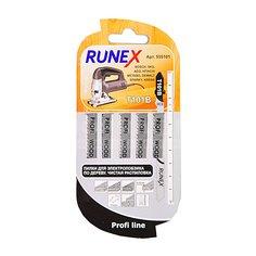 Пилка для электролобзика Runex T101B для дерева, пластика, ДСП 5 шт