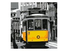 Картина по номерам Картина по номерам Котеин Старинный трамвай 30x30cm KHM0060