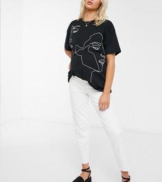 Черная футболка с принтомMamaliciousMaternity-Черный Mama.Licious