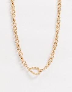 Золотистая цепочка с крупными звеньями Icon Brand-Золотой