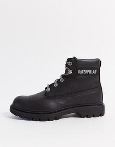 Черные кожаные походные ботинки CAT-Черный Caterpillar