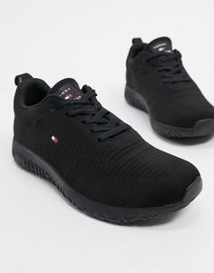 Черные трикотажные кроссовки с логотипом Tommy Hilfiger-Черный