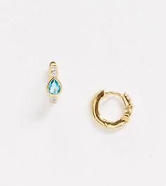 Позолоченные серьги-кольца в стиле хагги Orelia-Золотой