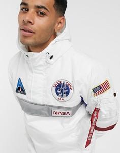 Белая нейлоновая куртка Alpha Industries-Белый