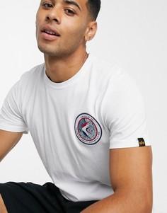 Белая трикотажная футболка Alpha Industries 09-Белый