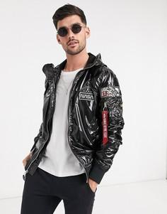 Черная куртка из тафты Alpha Industries-Черный