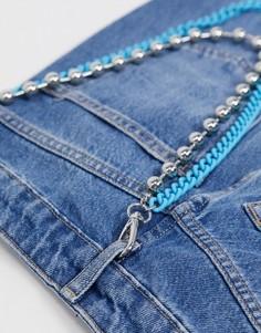 Ярусная цепочка для джинсов Topman-Мульти
