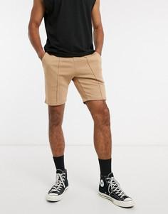 Коричневые шорты скинни от комплекта ASOS DESIGN-Коричневый