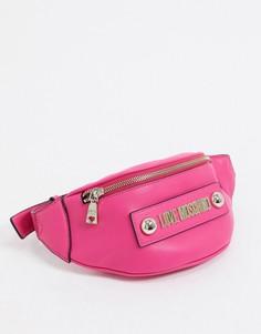 Сумка-кошелек на пояс цвета фуксииLove Moschino-Розовый