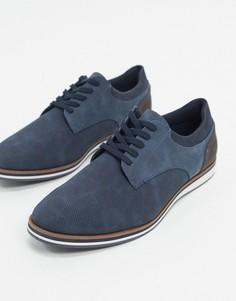 Темно-синие туфли со шнуровкойALDO-Темно-синий