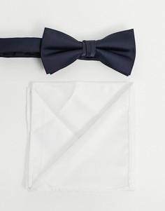 Темно-синий/белый платок для нагрудного кармана и галстук-бабочка Jack & Jones-Мульти