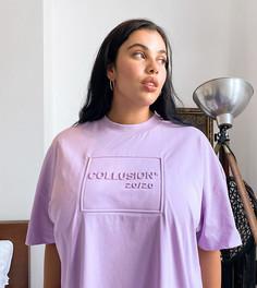 Лавандовое платье-футболка COLLUSION Plus-Фиолетовый