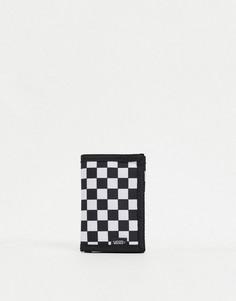 Черно-белый бумажник с шахматным узором Vans-Черный