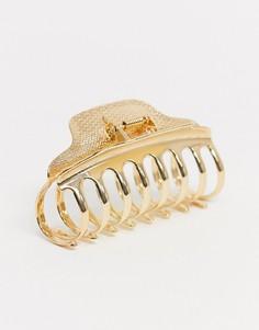 Золотистая заколка для волос ASOS DESIGN-Золотой
