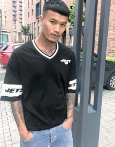 """Свободная футболка с логотипом команды """"Jets""""ASOS DESIGNNFL-Черный"""