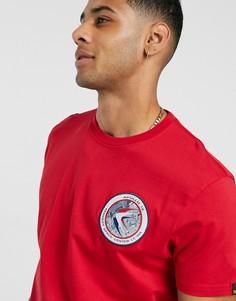 Красная трикотажная футболка Alpha Industries 328-Красный