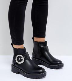 Ботинки с пряжками River Island-Черный