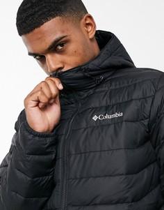 Черная куртка с капюшоном Columbia Powder Lite-Черный