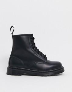 Черные ботинки с 8 парами люверсов Dr Martens 1460-Черный