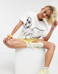 Белая oversized-футболка с принтом Levis x Peanuts-Белый