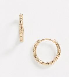 Фактурные серьги-кольца Reclaimed Vintage-Золотой