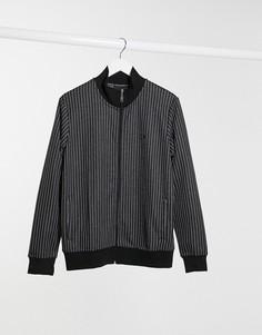 Спортивная куртка от комплекта в тонкую полоску Criminal Damage-Черный